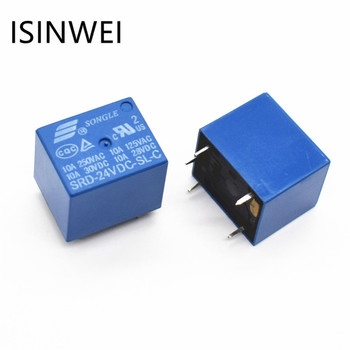 24V DC SONGLE Jaudas Releja T73-24V SRD-24VDC-SL-C PCB Tips