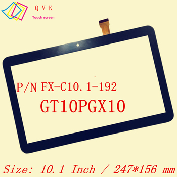 Black 10.1 Collu P/N FX-C10.1-192 GT10PGX10 tablet pc capacitive touch screen stikla digitizer panelis