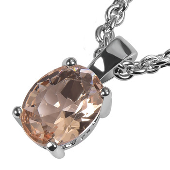 Morganite 925 Sterling Sudraba Modes Kulons PPP15